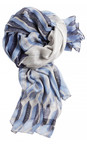 Sandwich Clothing Washed Blue Abstract Geometric Print Scarf