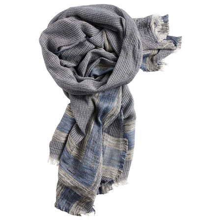 Sandwich Clothing Large Woven Check Cotton Scarf - Off-white