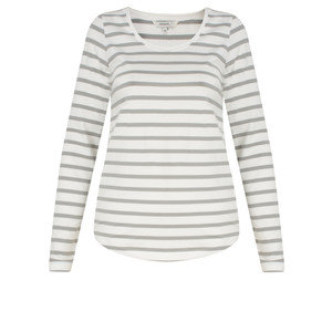 Sandwich Clothing Essential Long Sleeve Striped Jersey Top