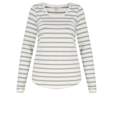 Sandwich Clothing Long Sleeve Striped Jersey Top - Off-white