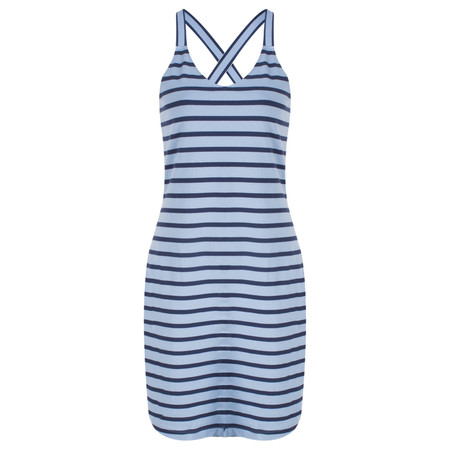 Sandwich Clothing Long Striped Cotton Vest Top - Blue