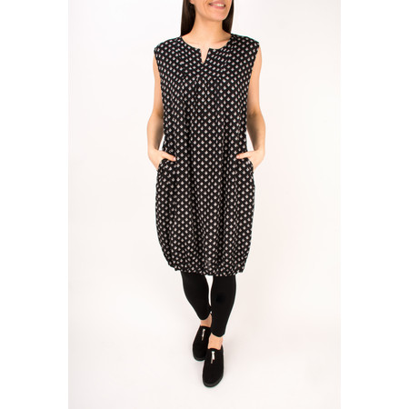 Masai Clothing Obena Print Dress  - Black