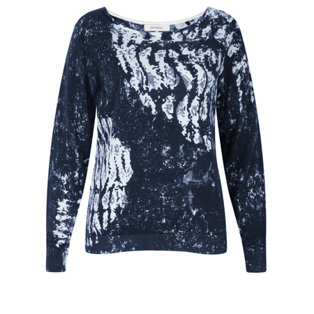 Sandwich Clothing Abstract Printed Cotton Jumper - Blue