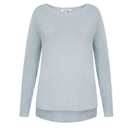 Sandwich Clothing Cotton Ribbed Pullover - Blue