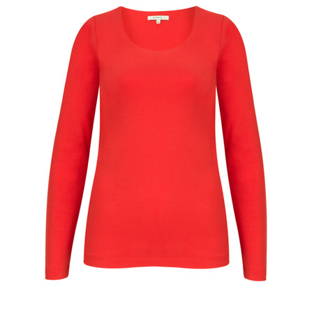 Sandwich Clothing Long Sleeve Stretch Cotton Jersey Top - Red