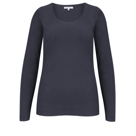 Sandwich Clothing Long Sleeve Stretch Cotton Jersey Top - Blue