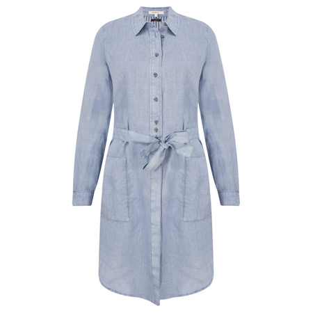 Sandwich Clothing Long Sleeve Shirt with Tie Waist - Blue