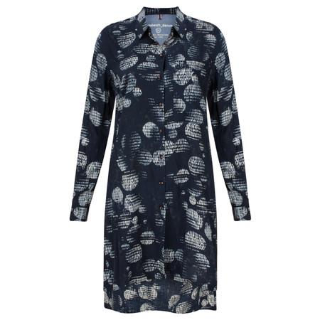Sandwich Clothing Circle Print Tunic Blouse - Blue