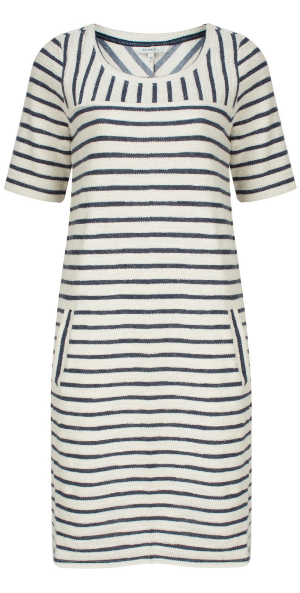Textured Stripe Jersey Dress main image