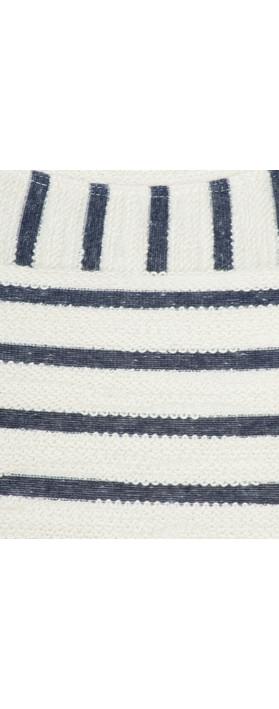 Sandwich Clothing Textured Stripe Jersey Dress Lily White