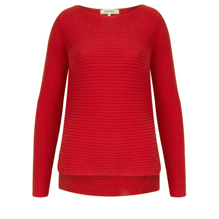 Sandwich Clothing Cotton Ribbed Jumper - Red