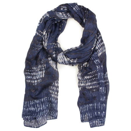 Sandwich Clothing Circle Print Woven Scarf - Blue