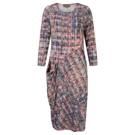 Sahara Diamond Print Jersey Dress - Multicoloured