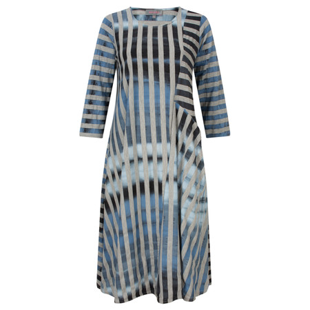 Sahara Tie-Die Jersey Dress - Blue Grey