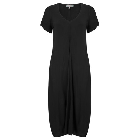 Sahara Crepe Bubble Dress - Black