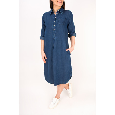 Sahara Denim Shirt Dress - Blue
