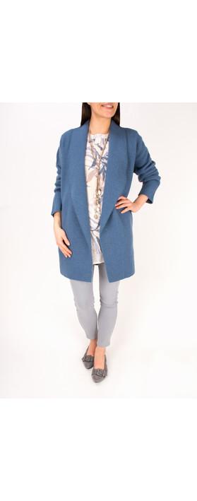 Adini Spring Wool Alessio Coat Dusky Blue
