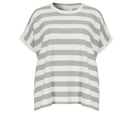 Masai Clothing Dimassi Stripe Oversize Top - Grey