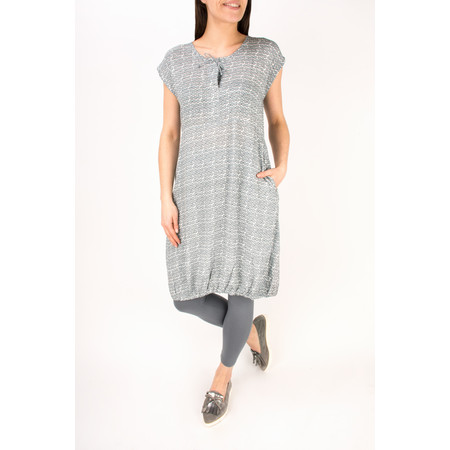 Masai Clothing Hadil Print Tunic  - Grey