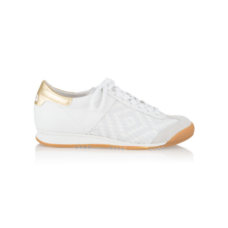 Ash Woven Leather & Suede Scorpio Trainer  - White