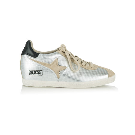 Ash Guepard Ter Low Wedge Trainer  - Silver