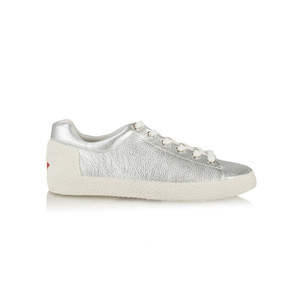 Ash Nicky Trainers Silver Textured Leather