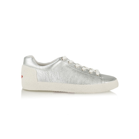 Ash Nicky Trainers Silver Textured Leather - Metallic