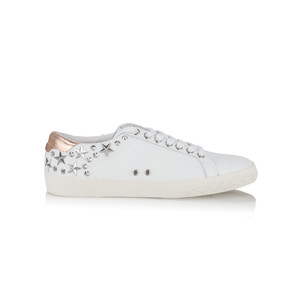 Ash Dazed White & Metallic Leather Trainers
