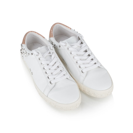 Ash Dazed White & Metallic Leather Trainers - White