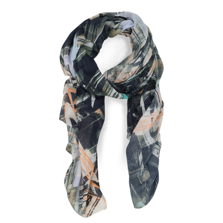 Great Plains Pastel Paint Party Scarf - Orange