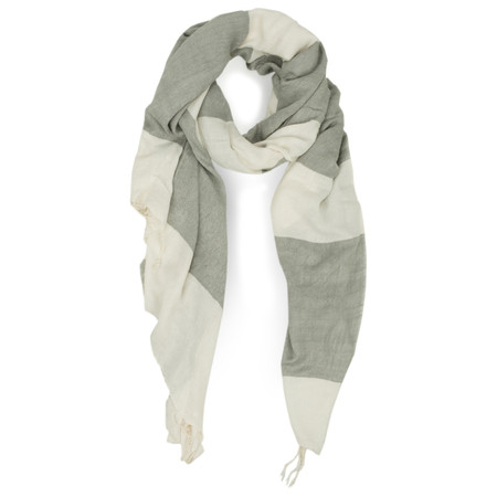 Great Plains Large Stripe Scarf - Grey