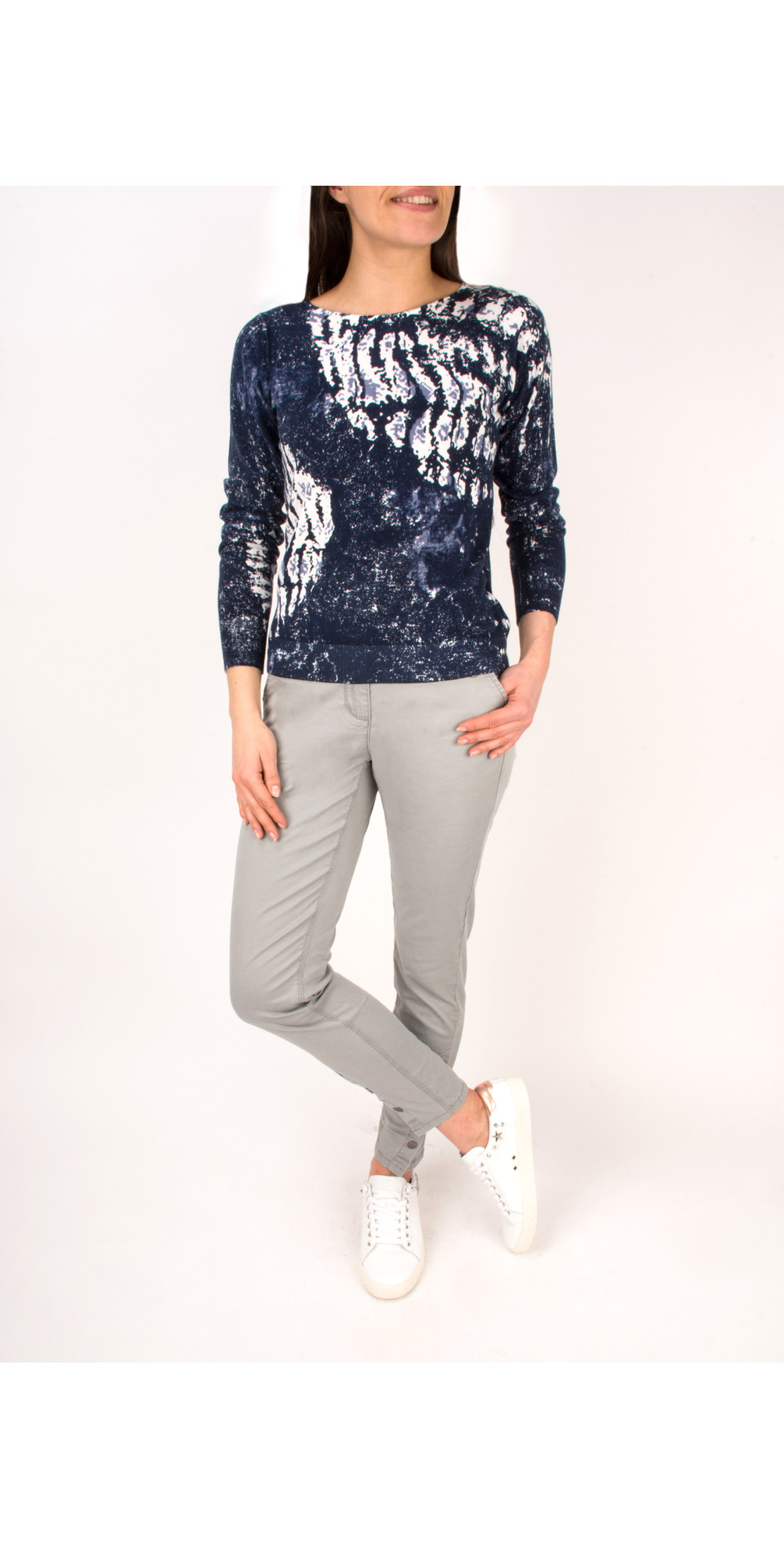 Abstract Printed Cotton Jumper main image
