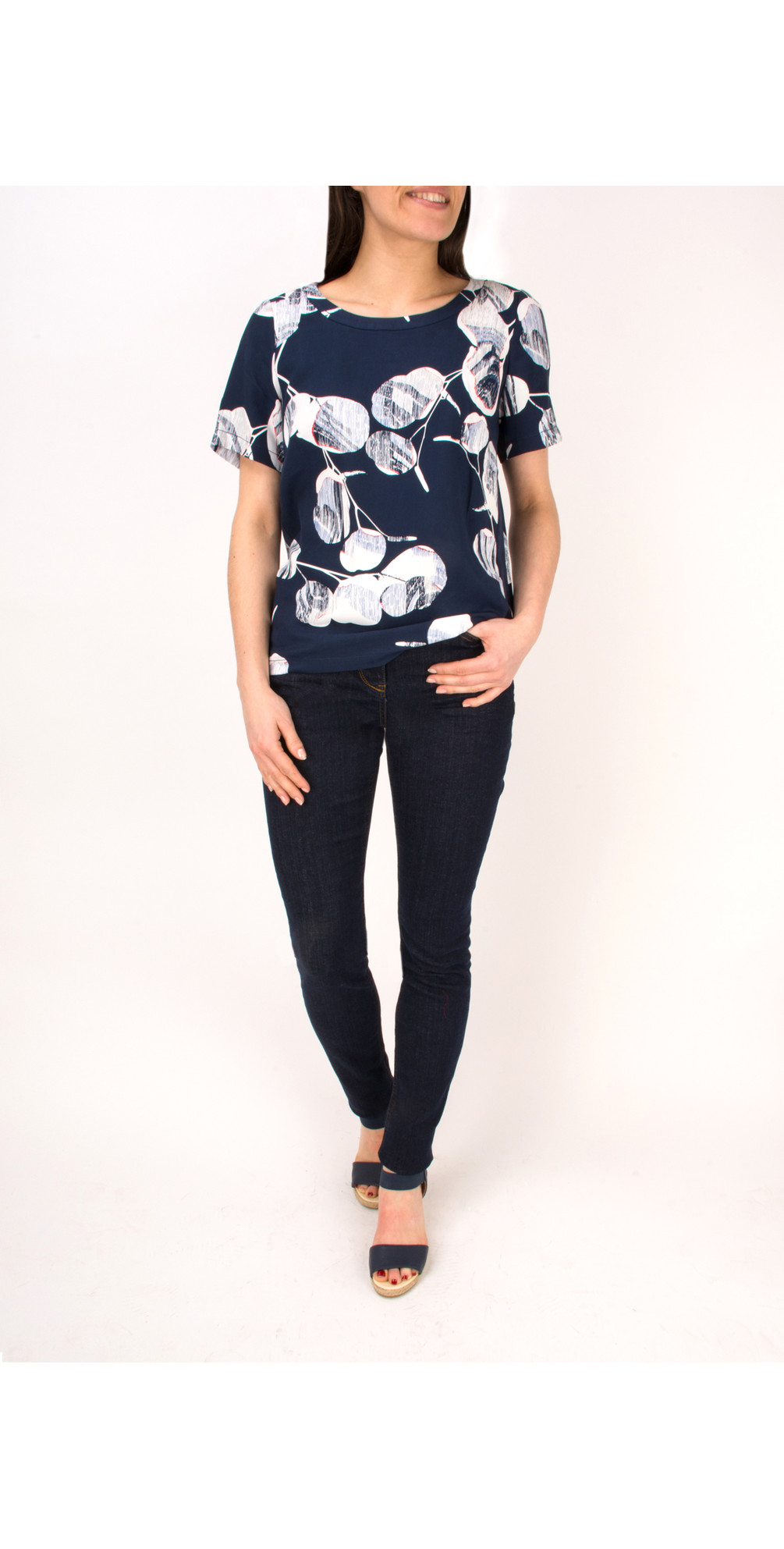 Woven Floral Print Top main image