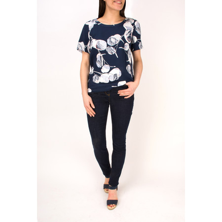 Sandwich Clothing Woven Floral Print Top - Blue