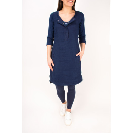 Sandwich Clothing Linen Jersey Dress - Blue