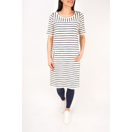 Sandwich Clothing Textured Stripe Jersey Dress - White