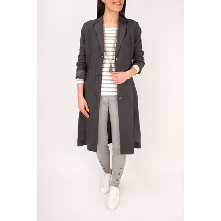 Sandwich Clothing Longline Linen Jacket - Grey