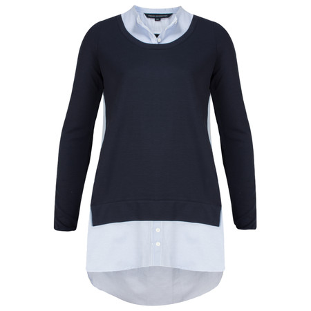 French Connection Spring Fresh Jersey Long Sleeve Top - Blue