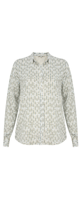 Sandwich Clothing Lotus Woven Patterned Blouse Lily White