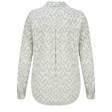 Sandwich Clothing Lotus Woven Patterned Blouse - White