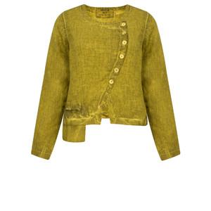 Grizas Oliato Linen Short Button Detail Jacket