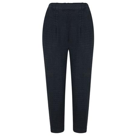 Grizas Jacquard Linen Easyfit 7/8 Trouser - Blue