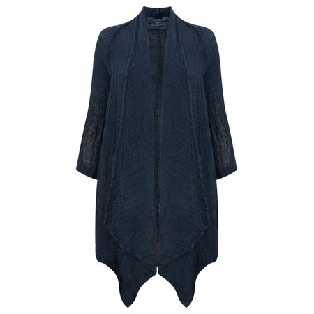 Grizas Linen Knit Oversize Cardi - Blue