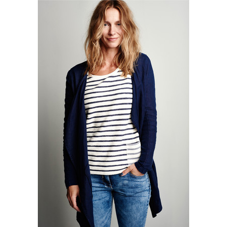 Sandwich Clothing Striped Long Sleeve Top - White