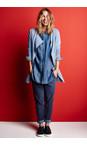 Sandwich Clothing Blue Denim Denim Wash Long Sleeve Blouse