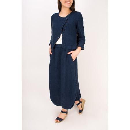 Grizas Linen Jacquard Skirt - Blue