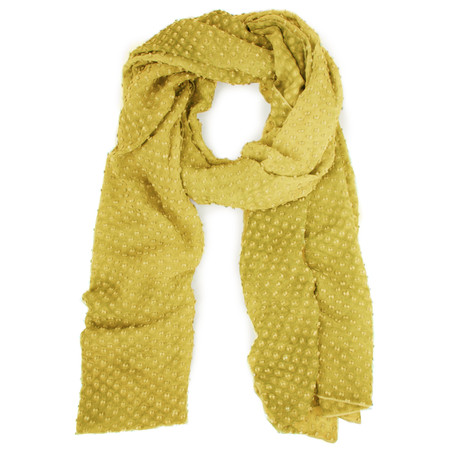 Grizas Oliato Silk Linen Dot Scarf - Green