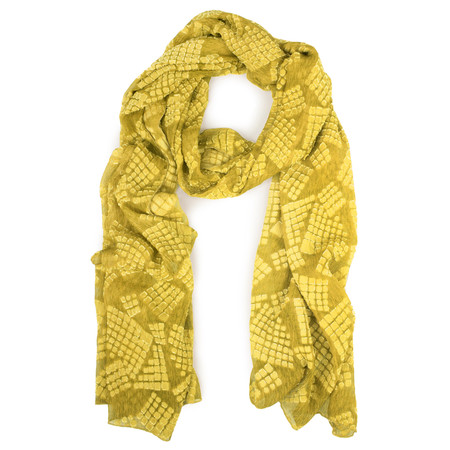 Grizas Oliato Devore Scarf - Green