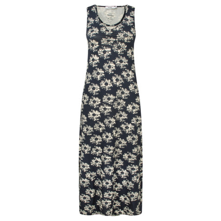 Myrine Pomme Daisy Print Sleeveless Dress - Ink Blue