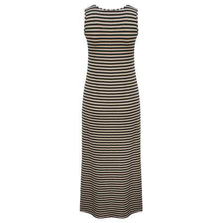 Myrine Tess Striped Sleeveless Dress - Black